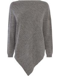 Karen Millen Soft Poncho Knit - Grey