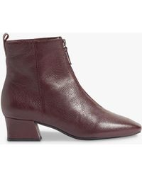 Jigsaw - Aldeson Zip Front Leather Boot - Lyst