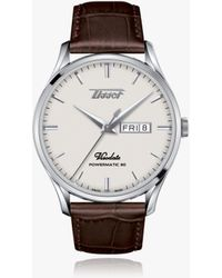 Tissot Heritage Visodate Leather Strap Watch - Multicolour
