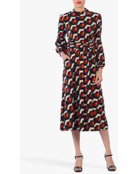 Jolie Moi - Geometric Print Turtleneck Midi Dress - Lyst