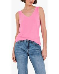Hush V-neck Jersey Vest - Pink