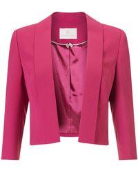 Jacques Vert Edge To Edge Jacket - Pink