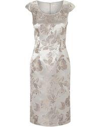 Jacques Vert Jacquard Dress - White