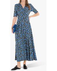 Jolie Moi Acadia Floral Print Wrap Maxi Dress - Blue