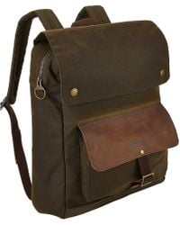 Barbour - Wax Cotton Urban Backpack - Lyst