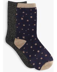 Tutti & Co Solstice Bamboo Cotton Blend Socks - Blue
