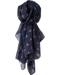 Joules - Wensley Bee Print Scarf - Lyst