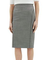 Jaeger - Birdseye Piped Pencil Skirt - Lyst