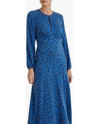 Fenn Wright Manson Flavie Spot Print Midi Dress - Blue