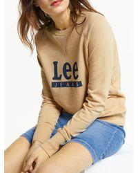 Lee Jeans Logo Sweatshirt - Natural
