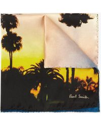 John Lewis - Paul Smith West Coast Sunset Silk Pocket Square - Lyst