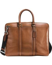 COACH - Metropolitan Slim Soft Leather Briefcase - Lyst