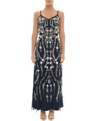 Adrianna Papell - Petite Bead And Sequin Embellishment Maxi Dress - Lyst