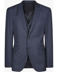 ac1a019e24 Ben Sherman Tailoring Camden Fit Basketweave Suit Jacket in Blue for ...