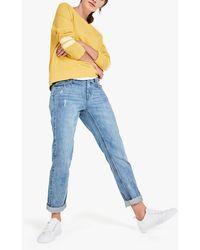 Hush Boyfriend Straight Fit Jeans - Blue