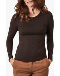 Pure Collection Crew Neck Jersey Top - Multicolour