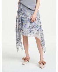 Modern Rarity - Mottled Floral Archive Print Skirt - Lyst