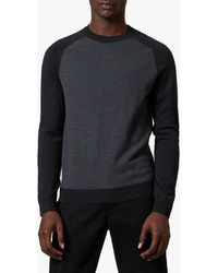Ted Baker - Topup Striped Crew Neck Jumper - Lyst