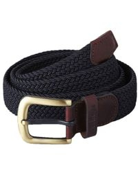 Barbour - Webbing Leather Trim Belt - Lyst