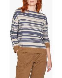 Thought Aurelia Organic Cotton And Wool Stripe Jumper - Blue