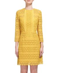 Whistles - Emma Circle Lace Dress - Lyst