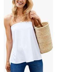 Baukjen Lily Bandeau Jersey Top - White