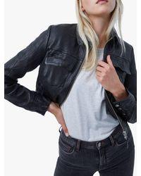 French Connection Rada Slim Leather Jacket - Black