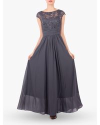 Jolie Moi - Lace Bodice Maxi Prom Dress - Lyst