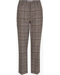 Gerard Darel Lillia Wool Blend Check Trousers - Black