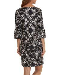 John Lewis - Betty & Co. Monochrome Bell Sleeve Dress - Lyst