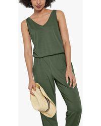 Hush Jersey V-neck Jumpsuit - Green