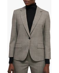 Jigsaw Rye Check Blazer - Grey