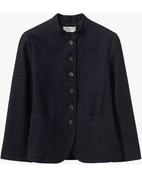 Toast Indigo Wool Linen Jacket - Blue