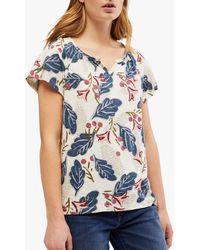 White Stuff Jacquard Jersey T-shirt - Blue