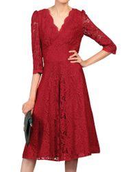 Jolie Moi - Three Quarter Sleeved Lace Dress - Lyst