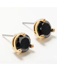 Kate Spade - Cubic Zirconia Round Stud Earrings - Lyst