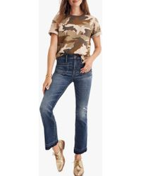 Madewell - Cali Patch Pocket Demi-boot Jeans - Lyst