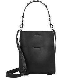 AllSaints - Suzi Mini Leather Tote Bag - Lyst