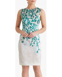 Fenn Wright Manson Petite Virginie Floral Print Midi Dress - Blue