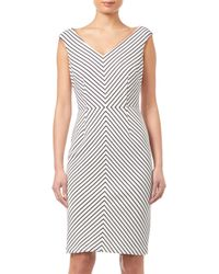 Adrianna Papell - Striped Ottoman Sheath Dress - Lyst