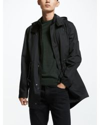 Fred Perry Fishtail Parka Jacket - Black