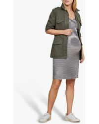Isabella Oliver - Gina Striped Maternity Dress - Lyst