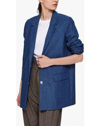 SELECTED Denim Blazer - Blue