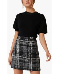 Forever New Sofia Check Mini Skirt - Black
