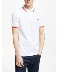 Fred Perry - Twin Tipped England Country Polo Shirt - Lyst