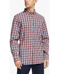 Fjallraven Övik Long Sleeve Shirt - Red
