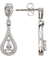 Ivory & Co. - Timeless Cubic Zirconia Pave Drop Earrings - Lyst