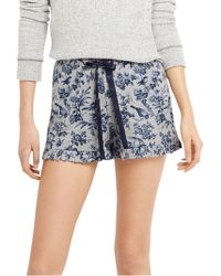 Oasis - Floral Print Pyjama Shorts - Lyst