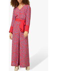 Finery London - Adalee Long Floral Jumpsuit - Lyst
