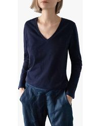 Nrby - Jamie Long Sleeved Cotton T-shirt - Lyst